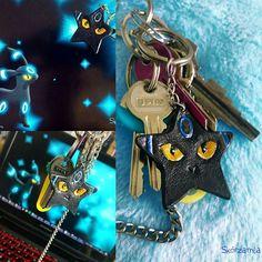 Umbreon Shiny Eevee evolution Pokemon Leather DIY