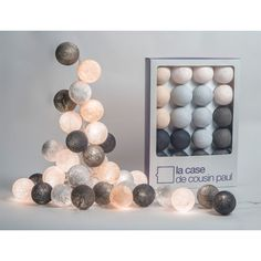 Brooklyn garland - 20 luminous balls La case de cousin Paul Children- A large selection of Design on Smallable, the Family Concept Store - More than 600 Baby Room Decor, Bedroom Decor, Childrens Lamps, Cloud Lights, Light Garland, Rose Garland, Room Lights, Fairy Lights, Cousins