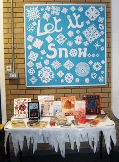 Library Displays...not just library displays...how about just a winter bulletin board...culd be up from mid-December through February...even March in some places.  Like it!