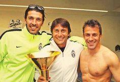 Gigi Buffon, Antonio Conte e Alessandro Del Piero. La storia della Juventus