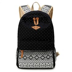 c352d95b722a 2016 Vintage Stylish Ladies Bag Backpack Ethnic Women Backpack for School  Teenagers Girls Female Blue Dotted