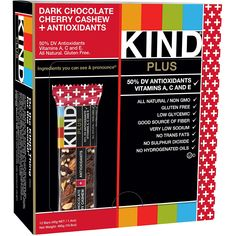 KIND Bars, Dark Chocolate Cherry Cashew   Antioxidants, Gluten Free, 1.4 Ounce Bars, 12 Count         * Click image for more details. (This is an affiliate link) #GroceryGourmetFood