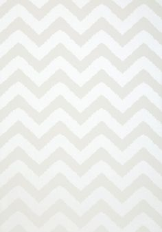Widenor Chevron Pearl on White Wallpaper from Thibaut Geometric Resource Collection. A bold wallpaper featuring large jagged chevrons printed in pearl on white. Chevron Wallpaper, Bold Wallpaper, Doodle Patterns, Nursery Inspiration, Girls Bedroom, Doodles, Texture, Pearls, Deco