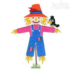 Scarecrow Kids Embroidery Design