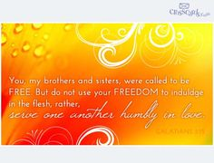 """""""...serve one another humbly in love."""" Galatians 5:13    Send this as an eCard for Maundy Thursday."""