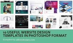 10 Great Photoshop Website Templates You Can Use for Free