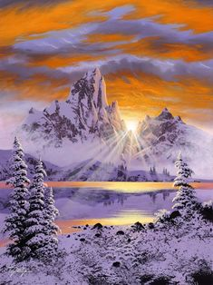 Beautiful! Perfect timing on the photo with the suns rays just peering over the mountain. ##snow #winter #photograph