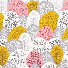 Lovely pinky tree pattern by London based Eloise Renouf #desiginspirations #pattern #fabricprinting