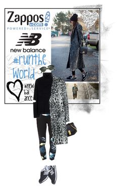 """""""Run the World in New Balance"""" by lsamsam ❤ liked on Polyvore featuring New Balance, Public School, Marc Jacobs, Yves Salomon, Ray-Ban, New Balance Classics and NewBalance"""