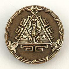 Antique button, Egyptian cat goddess Bastet.