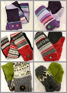 Old sweaters can become new winter accessories!