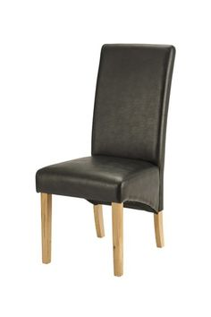 Darby, Dining Chair, Faux leather, Black dining chair, leather dining chair