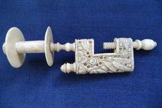 Canton ox bone sewing clamp circa 1840