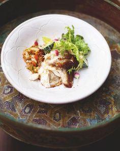 prawn-stuffed spicy fish with vermicelli