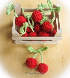 Crochet cherries for the best from the shop The post crochet cherries for the . Crochet cherries for the best from the shop The post crochet cherries for the shop appeared first on DIY projects. Crochet Fruit, Crochet Food, Diy Crochet, Crochet Baby, Knitting For Kids, Crochet For Kids, Knitting Patterns, Crochet Patterns, Kawaii Crochet