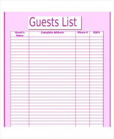 wedding checklist printable guest list wedding planning pinterest