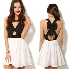 Sexy Women Summer Chiffon Sleeveless Party Evening Backless Mini Dress #Unbranded #SexyClub