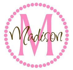 Polka Dot Name Wall Decal  Initial and Name by openheartcreations