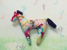 Summer Patchwork Horse Toy by DecorshopSu on Etsy