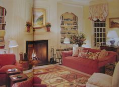 The Devoted Classicist  living room maine Brooke Astor  Mark Hampton!