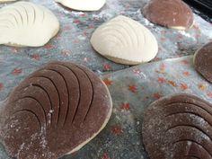 Conchas blancas y de Chocolate