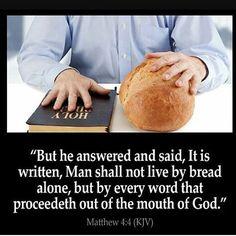 "Good afternoon freinds... // Buenas tardes amigos... ""No solo de pan vivirá el hombre sinó de toda palabra salida de la boca de Dios"" (Matthew 4:4) #bible #bibleverse #biblequotes #bibleverseoftheday #instagood #godsword #hope #inspiration #motivation #jesus #spring #bread #god #godisnotdead2 by angelastrong7 http://ift.tt/1KAavV3"