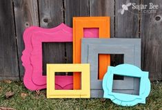 Make Foam Core Board Picture Frames - you can get a sheet of foam board at the dollar store for $1