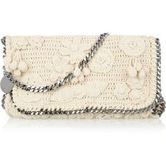 """""""Stella McCartney Chain-trimmed crocheted-cotton shoulder bag"""" found on Polyvore"""