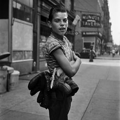 Vivian Maier is a prolific street photographer who documented Chicago's sidewalks from the 1950s through the 1990s. Her name has only recently entered the modern vocabulary of photographers because her work was not discovered until after her death. In fact, Maier never showed her photographs to anyone or even had many of them developed during her lifetime. She worked as a nanny for the nearly 40 years she was based in Chicago.