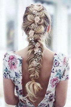 Best Ideas For Wedding Hairstyles : Luxy Hair Long Wedding Hairstyle 2 Wedding Hair Pins, Wedding Hairstyles For Long Hair, Braided Hairstyles, Pretty Hairstyles, Hairstyle Braid, Wedding Braids, Hairstyles Videos, Wedding Vows, Diy Wedding