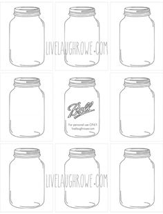 Mason Jar Printable: Use to create fingerprint lightning