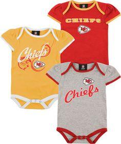 Kansas City Chiefs Infant Creeper Set