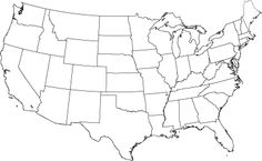 US map to print and color