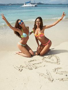 """♡ VS Angels US ♡ on Twitter: """"#NEW Lily and Alessandra for Victoria's Secret Swim Special 2015 http://t.co/f4oHaP99gt"""""""