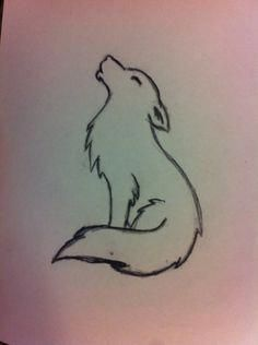 Animals How To Draw A Howling Wolf For Kids Drawing Instructions