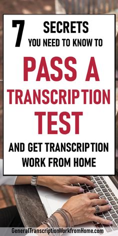 work from home Learn how to pass a transcription employment test when applying for transcription jobs with transcription companies. Pass the tests and get more transcription work from home Ways To Earn Money, Earn Money From Home, Earn Money Online, Online Jobs, Way To Make Money, Money Fast, Work From Home Companies, Work From Home Opportunities, Legit Work From Home