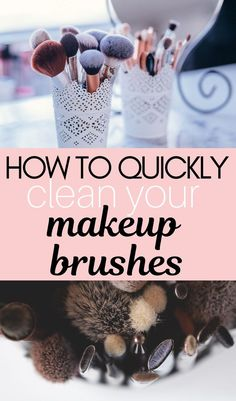 Find out how to clean and disinfect your makeup brushes properly with baby shampoo and alcohol to remove dirt, oil … Diy Makeup Brush, Make Makeup, How To Clean Makeup Brushes, Makeup Must Haves, How To Apply Makeup, Makeup Tools, Makeup Hacks, Makeup Ideas, Makeup Artist Tips