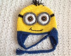 Despicable Me  Crochet Minion Hat by Chinguliscreations on Etsy