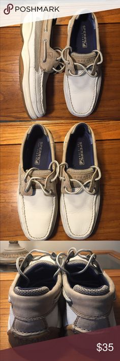 Men's Sperry Top-Sider 2-Eye Leather Boat Shoe Excellent condition.Mens' 8.5 Sperry Top-Sider boat shoe. No rips, stains, or tears. Sperry Top-Sider Shoes Boat Shoes