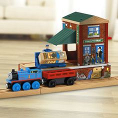 Shop our collection of Fisher-Price® Thomas & Friends™ train sets, tracks and wood playsets for toddlers and preschool kids featuring characters from the show! Picture Editing Software, Thomas And Friends Trains, Building Images, Wooden Train, Model Train Layouts, Thomas The Train, Model Trains, Diy And Crafts, Brio