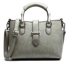 Yuntun Retro Women's Handbag Messenger Ladies Fashion Bags(Gray) ** Additional…