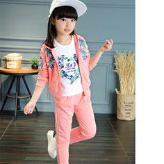 $31.99 (Buy here: https://alitems.com/g/1e8d114494ebda23ff8b16525dc3e8/?i=5&ulp=https%3A%2F%2Fwww.aliexpress.com%2Fitem%2F2016-Brand-Girls-3-Pieces-Print-Clothing-Set-For-Autumn-Spring-Girls-Coat-T-shirt-Pants%2F32714005553.html ) 2016 Brand Girls 3 Pieces Print Clothing Set For Autumn Spring Girls Coat+T-shirt+Pants Sport School Clothing Set Kid Clothes for just $31.99