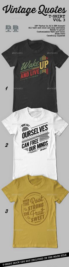 Vintage Quotes T-Shirt Template Vector EPS, AI. Download here: http://graphicriver.net/item/vintage-quotes-tshirt-vol-3/9324264?ref=ksioks