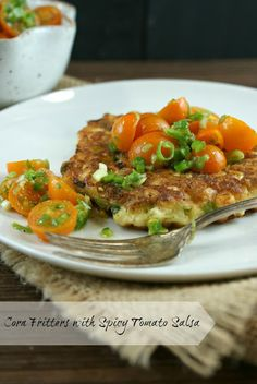 Corn Fritters with Spicy Tomato Salsa