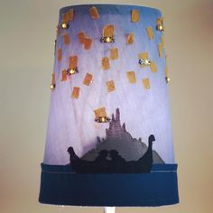 "Check out this lamp I did for my Craft Technologies class last semester. I call it the ""I See The Light Lampshade!"" Made with fabric LED lights conductive thread a Lilypad and a Lilypad Light Sensor the lamp light will automatically turn on the LED lights in a sparkling pattern using Arduino coding. Fun huh? #Arduino #etextiles #coding by kneu.art"