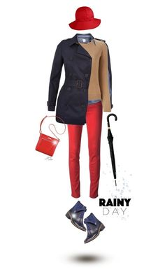 """Rainy Day"" by jgee67 ❤ liked on Polyvore featuring Jaeger, Jacob Cohёn, VILA, Chloé, Alexander McQueen, Bernardo, Nine West, rainydaystyle and rainydaylook"