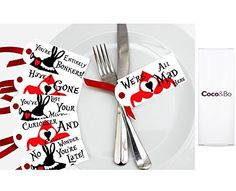 10 x Coco&Bo - Alice in Wonderland - Tea Party Table Tags - Queen of Hearts Mad Hatters Tea Party Table Decorations Coco & Bo http://www.amazon.co.uk/dp/B00DDTIXX6/ref=cm_sw_r_pi_dp_JFNsvb0CHHREN