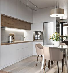 31 Modern Kitchen Concepts Every House Prepare Needs to See Küche Luxury Kitchen Design, Contemporary Kitchen Design, Luxury Kitchens, Interior Design Kitchen, Home Kitchens, Home Design, Design Ideas, Design Trends, Dream Kitchens
