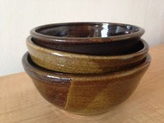 Patrick's Pots: Three stoneware bowls for soup or serving