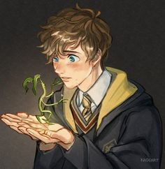 Fantastic beast Young Newt and Bowtruckle Harry Potter Anime, Harry Potter Fan Art, Harry Potter World, Harry Potter Humor, Estilo Harry Potter, Mundo Harry Potter, Harry Potter Drawings, Harry Potter Pictures, Harry Potter Universal